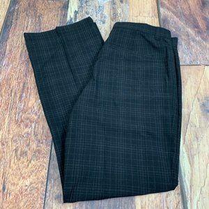 Kenneth Cole Casual Black Slacks Pinstripe Checks